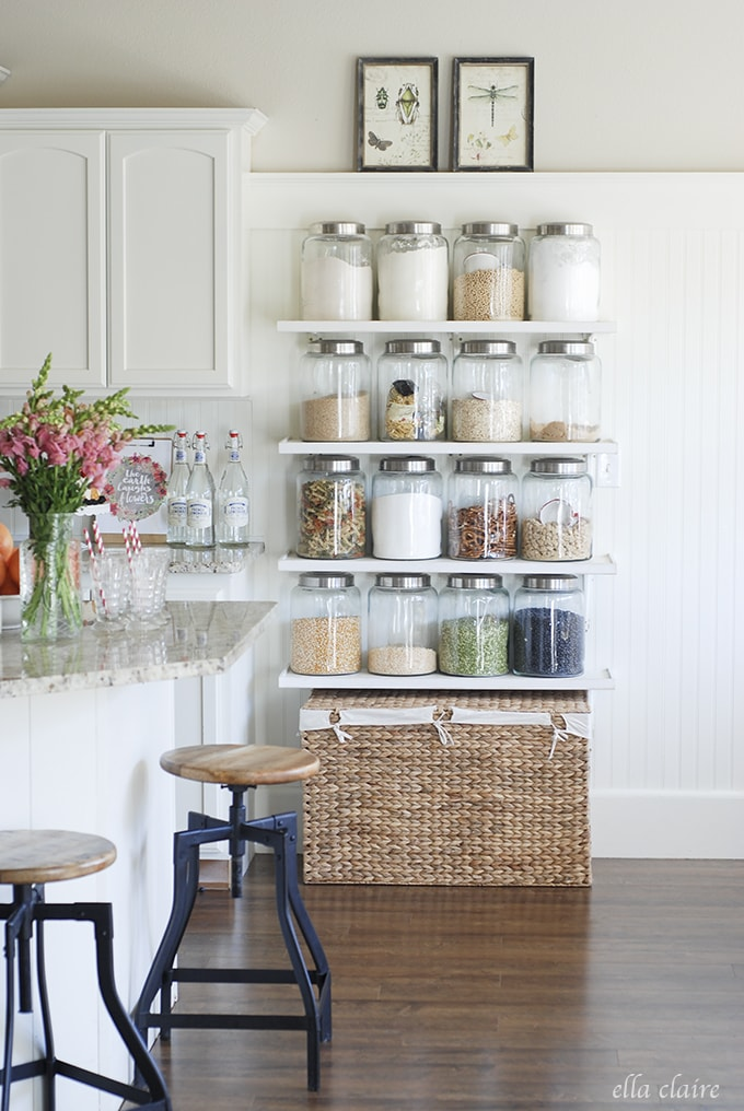 Love these shelves | Ella Claire Spring Home Tour