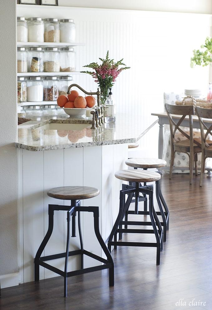 kitchen stools | Ella Claire Summer Home Tour