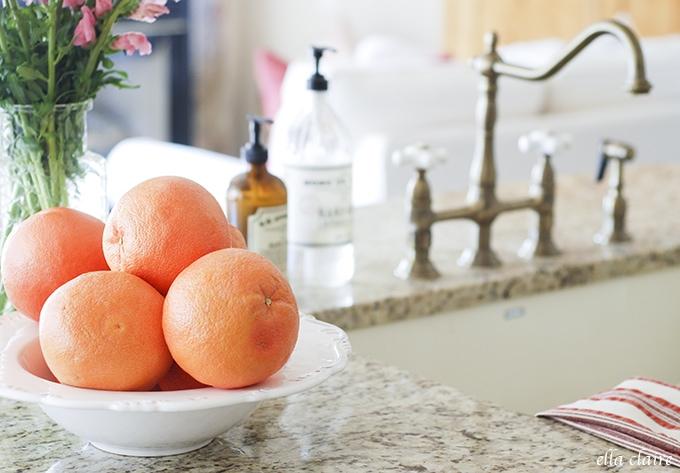 grapefruit | Ella Claire Summer Home Tour