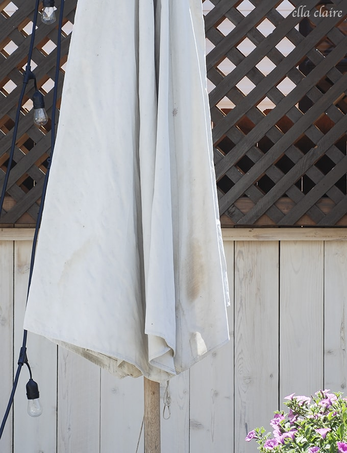 How to makeover an old Patio umbrella to make it look like new
