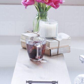 Easy DIY Bathtub Tray | Tutorial