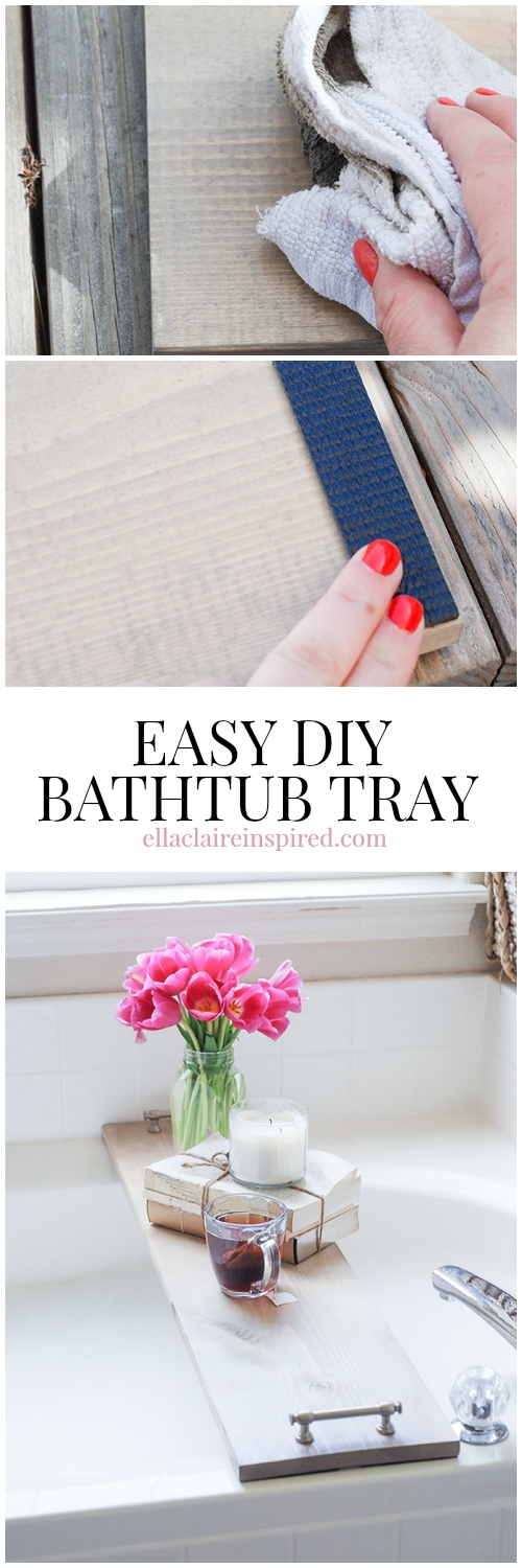 Easy DIY Bathtub Tray Tutorial