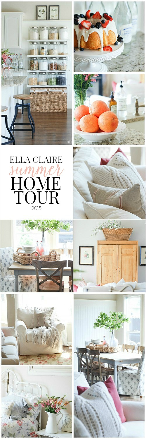 Ella Claire Summer Home Tour~ Fresh and bright with lots of vintage charm