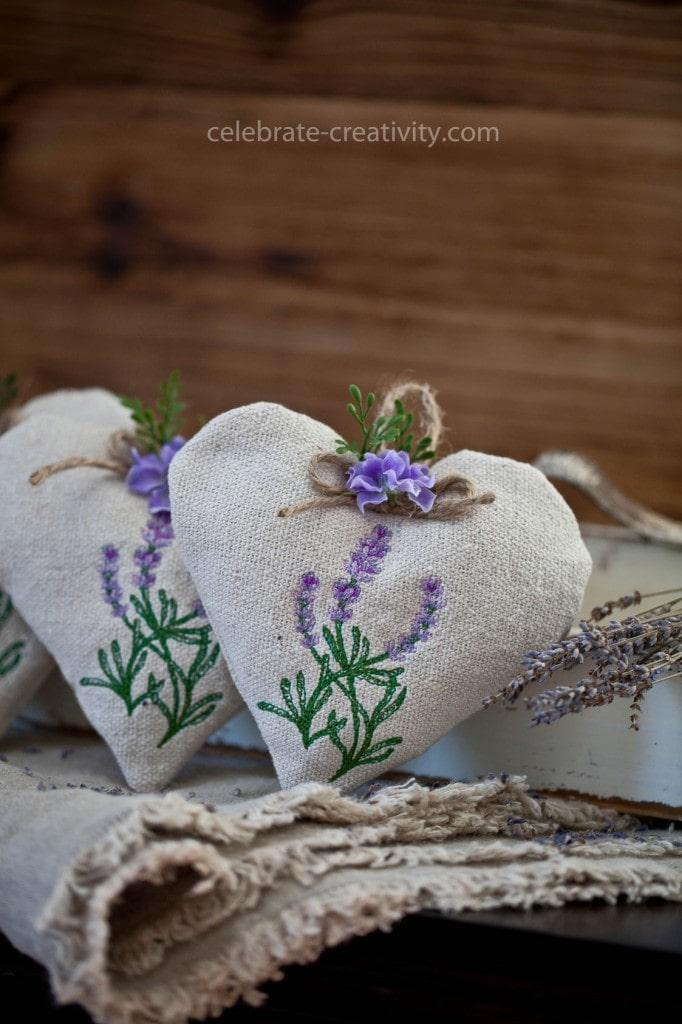 lavender heart sachet11