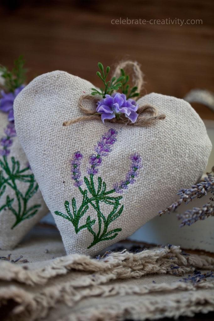 lavender heart sachet13