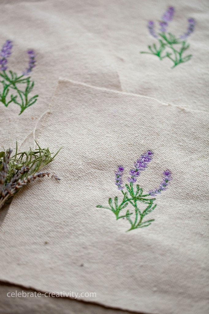 lavender sachet embroidery