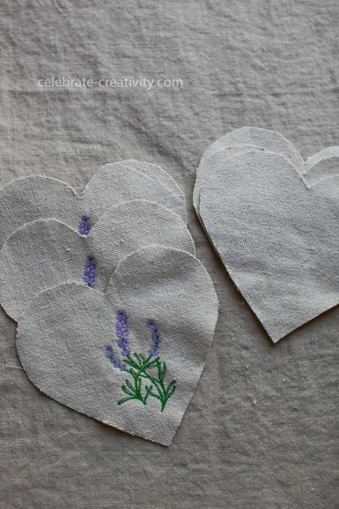 lavender sachet hearts