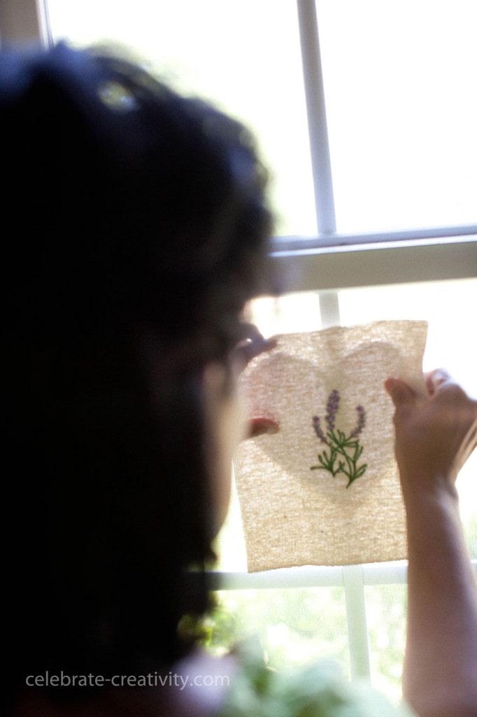 lavender sachet window