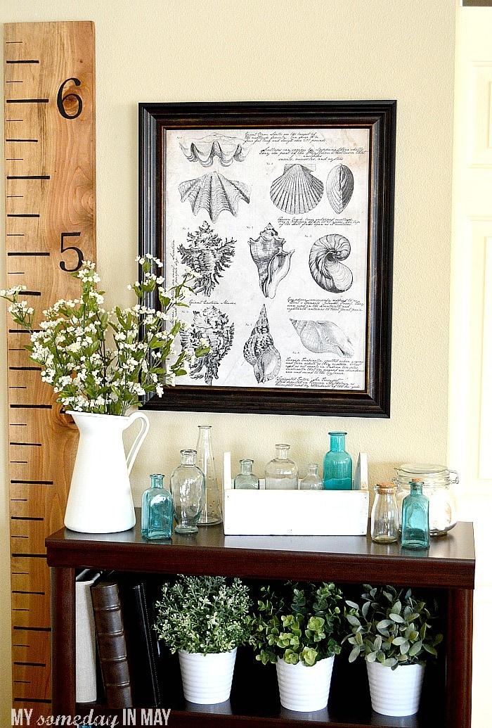 free printable seashell botanical print ella claire
