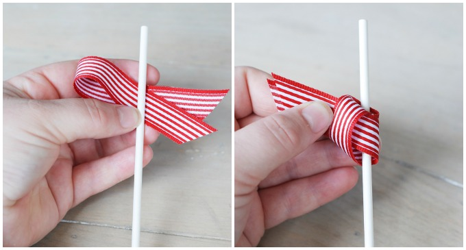 DIY Ribbon Cupcake Toppers