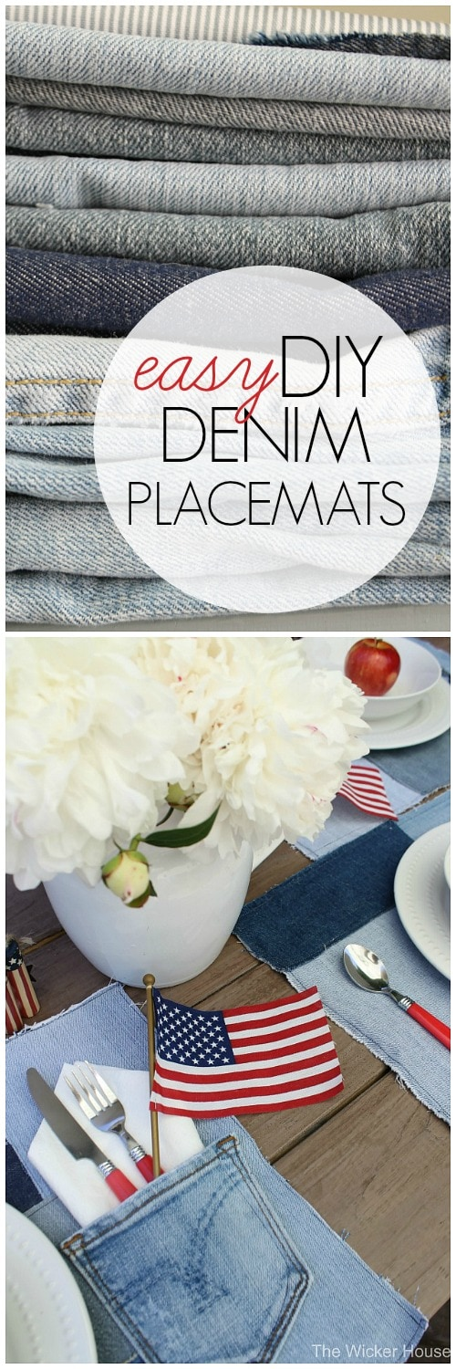 The perfect way to recycle all of those old jeans! These DIY placemats are adorable, durable, and washable!