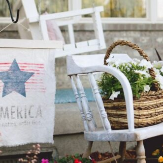 DIY Patriotic Garden Flag | Ink Transfer Technique