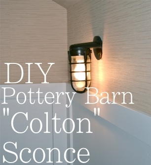 DIY Pottery Barn Sconce