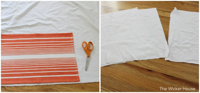 Easy sew denim placemats