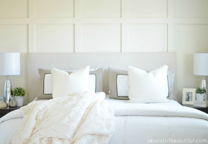 Diy paneled wall diy wainscoting ella claire Images of wainscoting in bedrooms