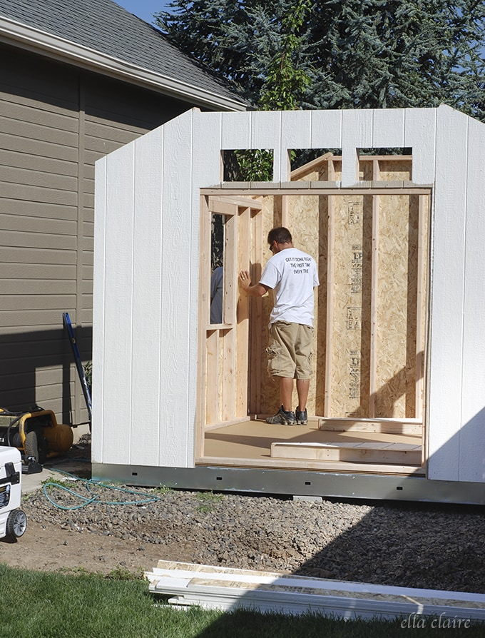 She Shed Install