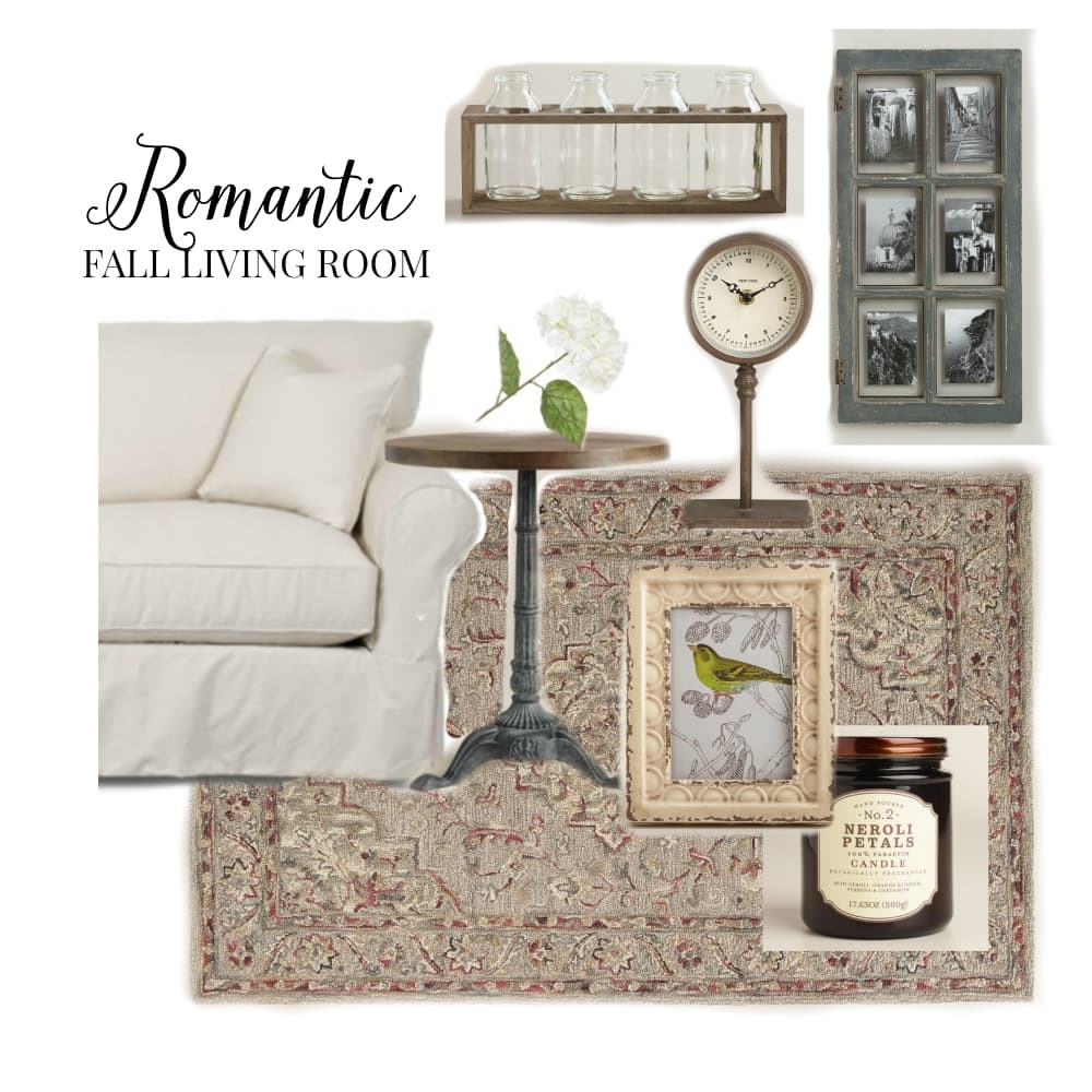 Romantic Fall Living Room Mood Board