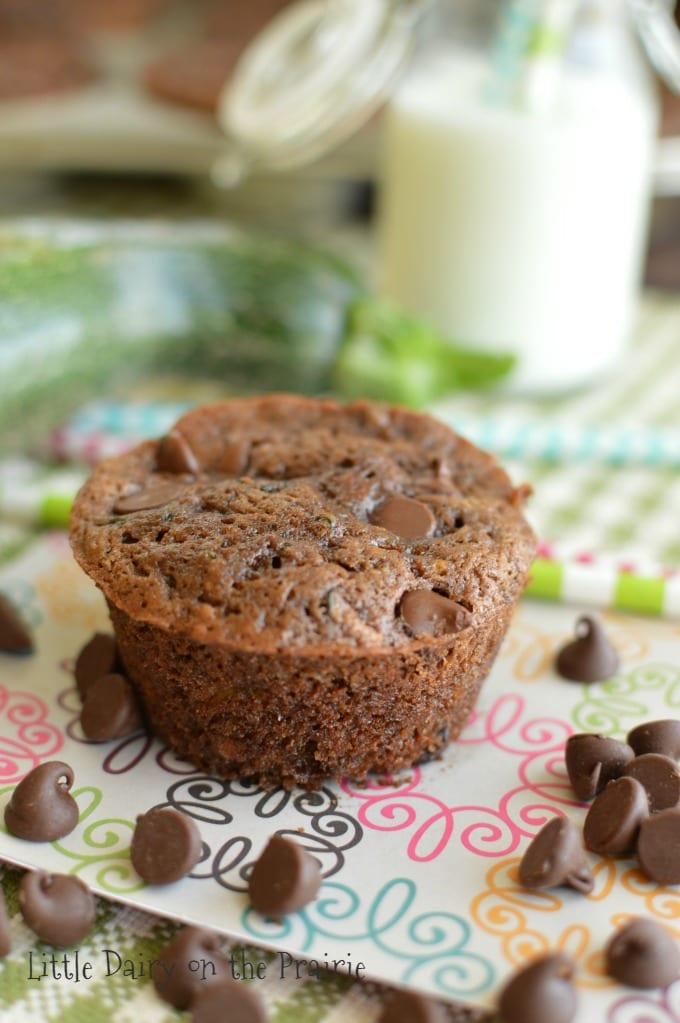 The best Chocolate Zucchini Muffins!