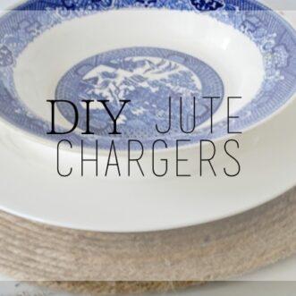 DIY Jute Chargers