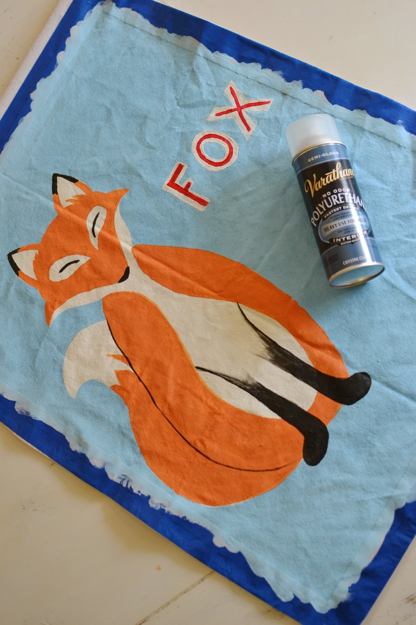 Pottery Barn Inspired Hand Painted Animal Poster