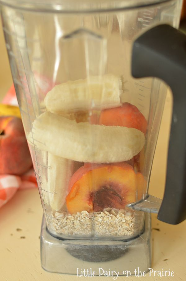 Easy peach oatmeal smoothie