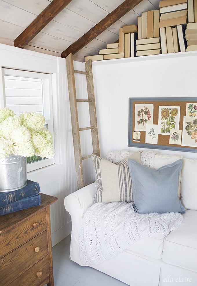 She Shed Ella Claire | cozy corner
