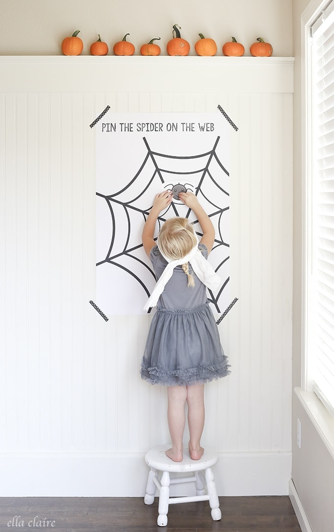 photograph relating to Spider Web Printable named Pin the Spider upon the Website Totally free Printable - Ella Claire