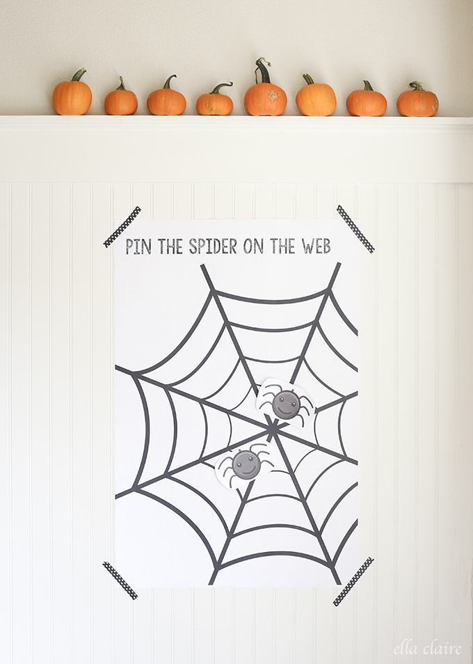 Free Printable | Pin the Spider on the Web