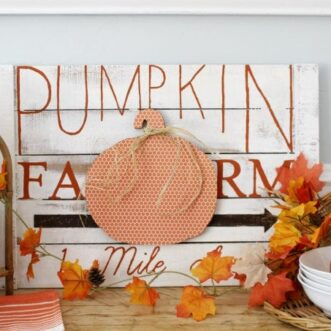 How to make a Pumpkin Farm Sign