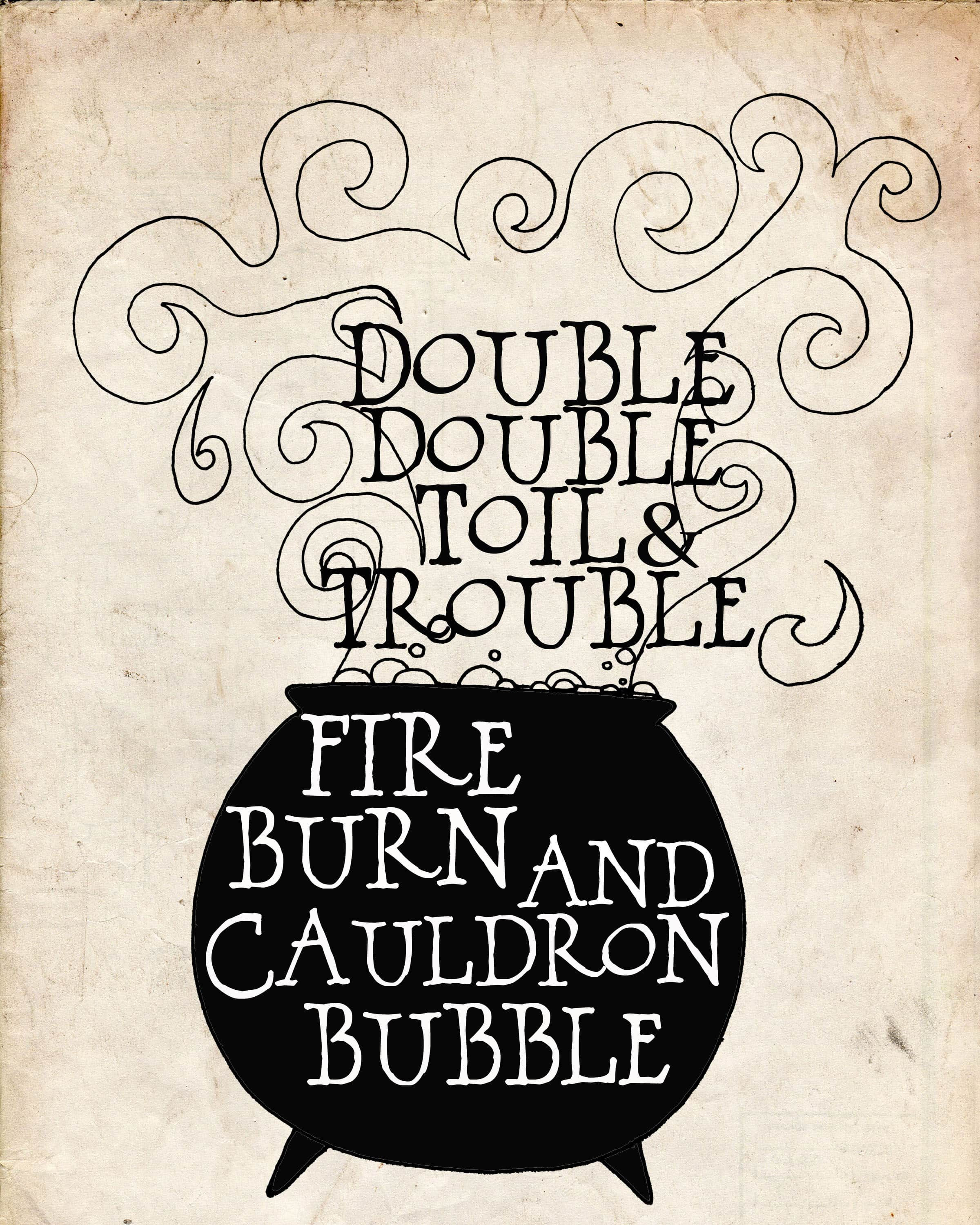 Image result for double double toil and trouble font