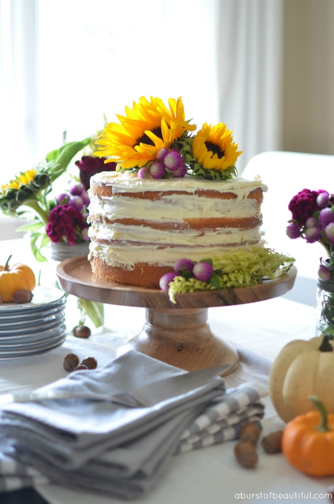 DIY Fall Naked Cake_2