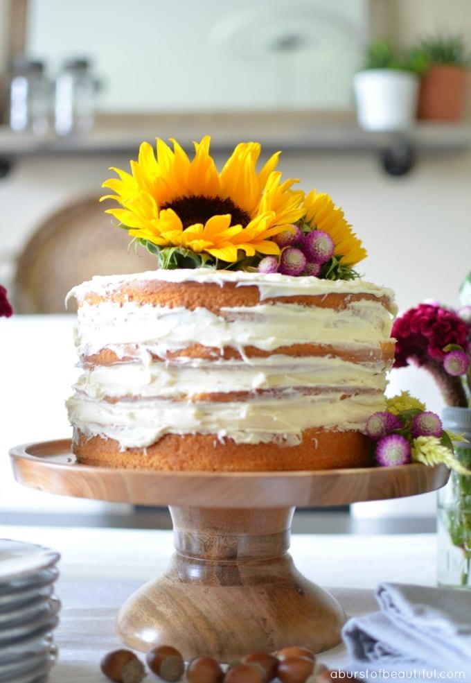 DIY Fall Naked Cake