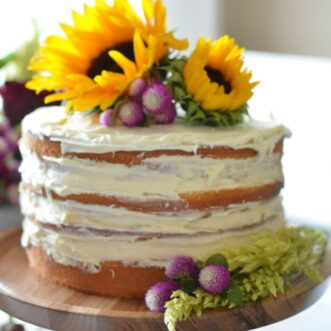 DIY Fall Naked Cake