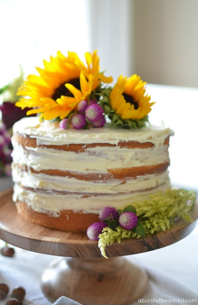 Diy Fall Naked Cake Ella Claire