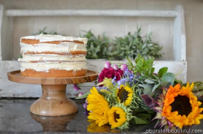 DIY Fall Naked Cake_Step 3