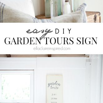 She Shed | DIY Garden Tours Sign