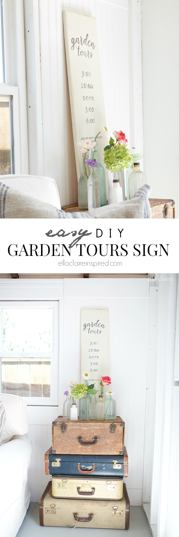 Easy DIY Garden Tours Sign- Simple and Pretty!