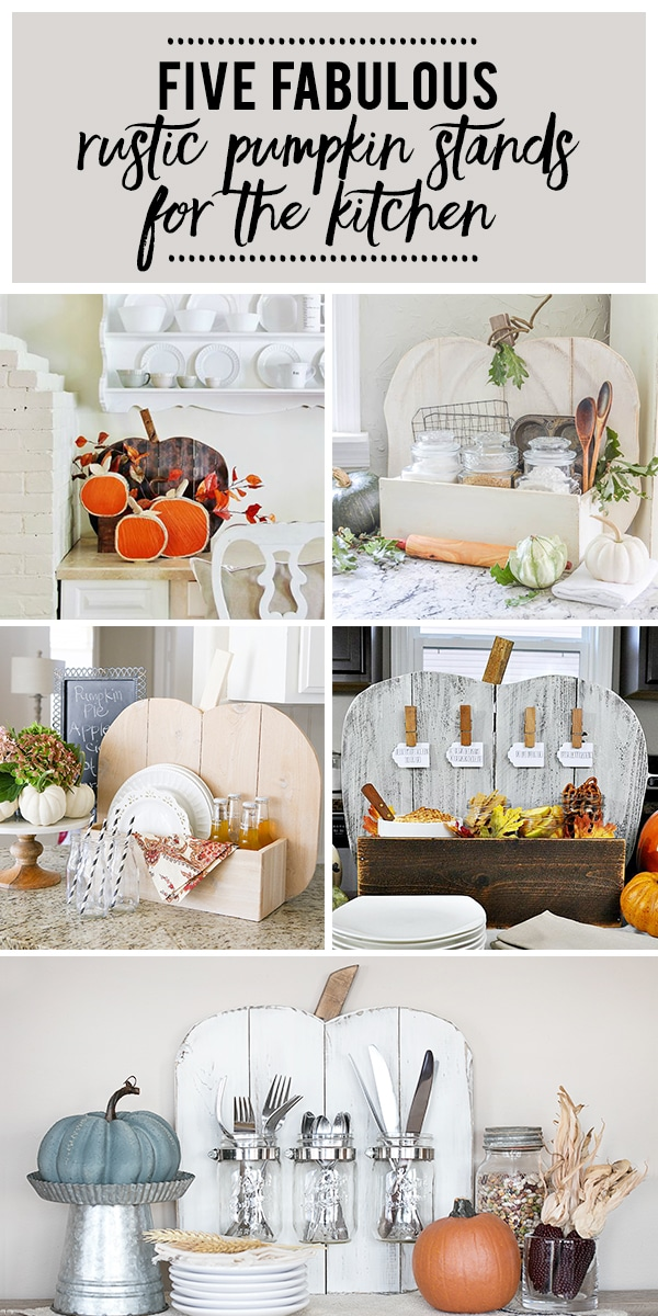Five Rustic Pumpkin Stands for the Kitchen