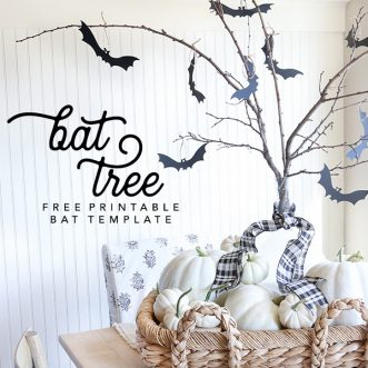 Haunted Halloween Tree | Free Printable Bats