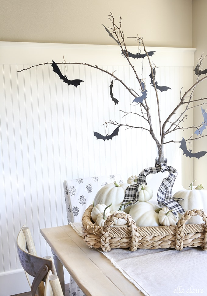 Free Printable Spooky Bat Tree Template
