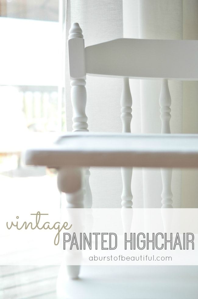 Painted Vintage Highchair_Pinterest Graphic