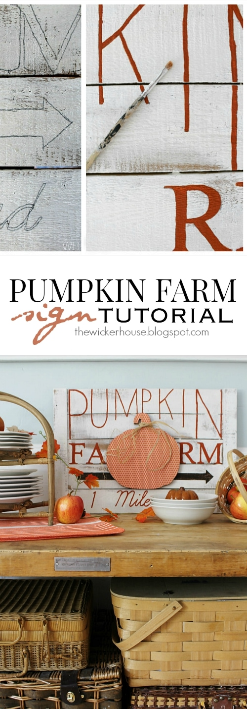 Adorable DIY Pumpkin Farm Sign Tutorial