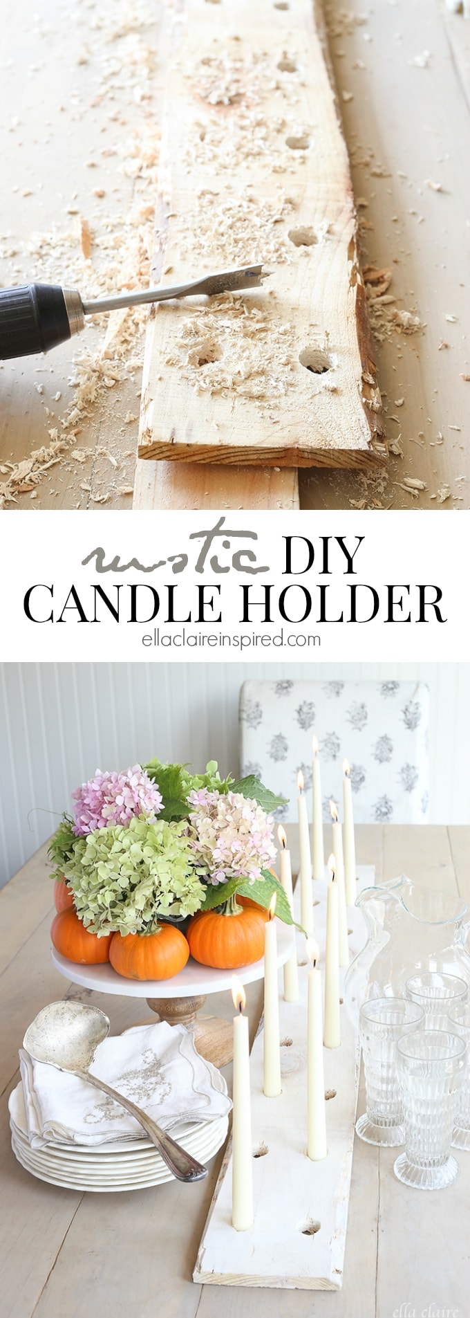 Rustic DIY Candle Holder