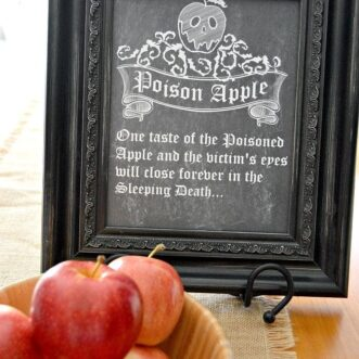 Poison Apple Chalkboard | Free Printable