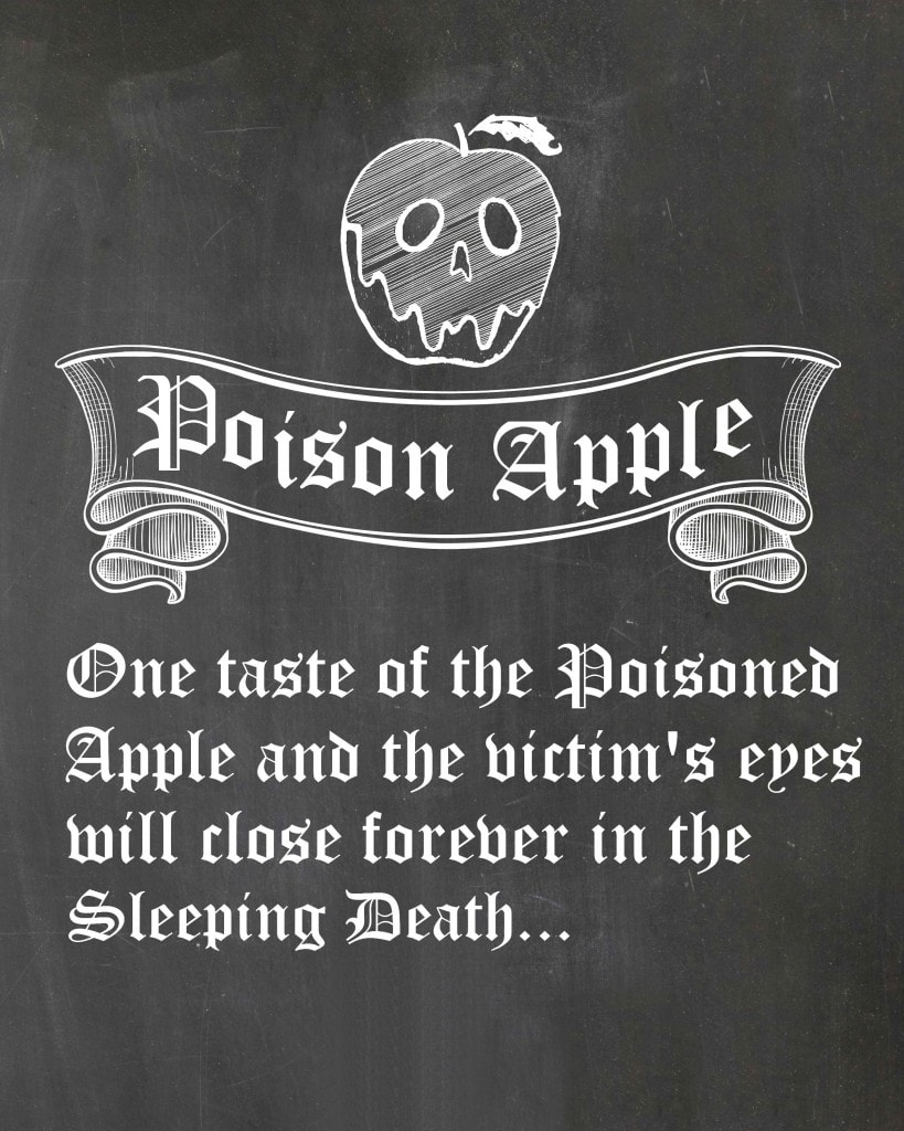 poisonapplechalkboardnovines