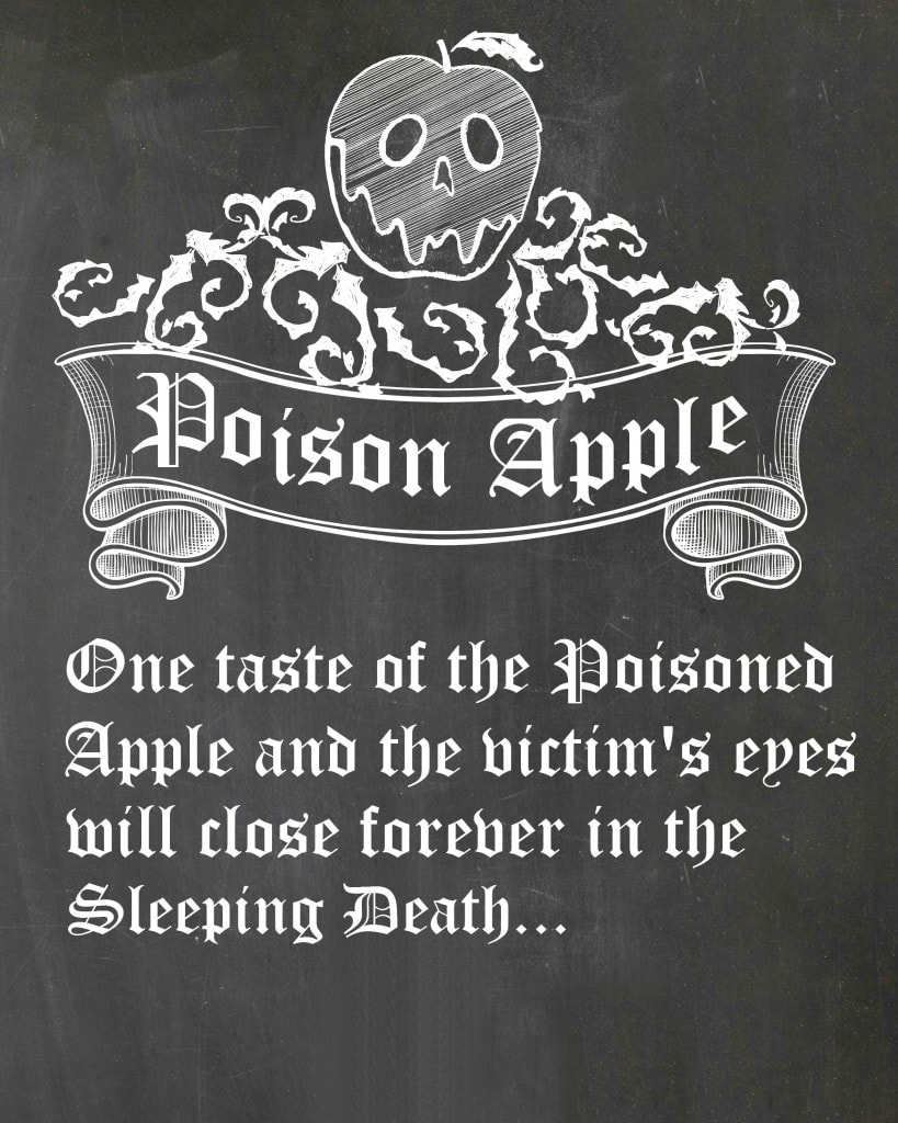 poisonapplechalkboardprintvines