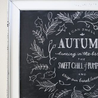 Autumn Chalkboard