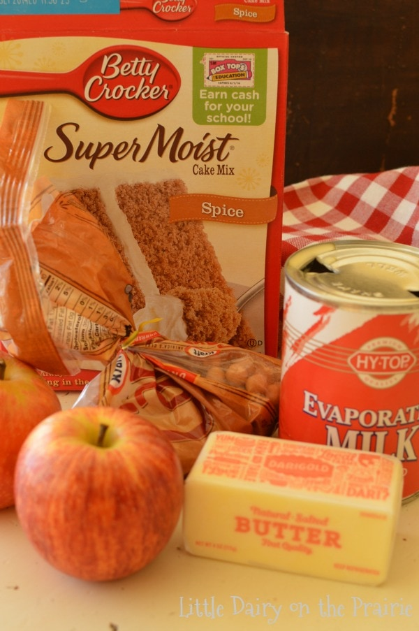 Simple ingredients to make Knock You Naked Caramel Apple Blonides! Oh my!!
