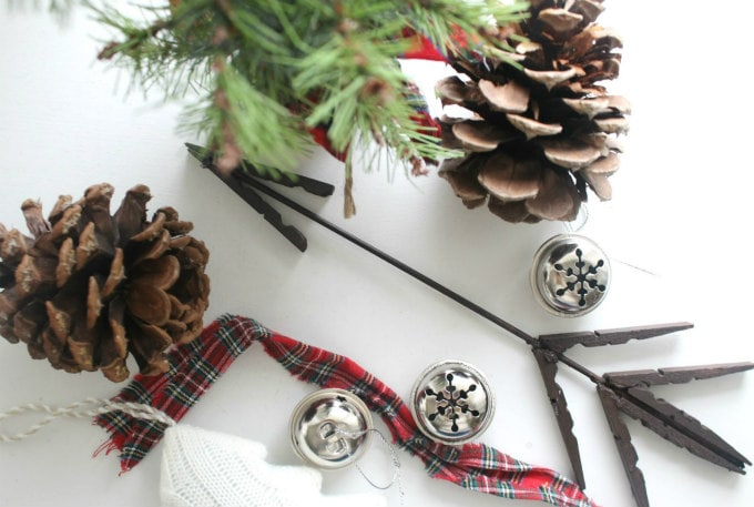 Clothespin Arrow Christmas Ornaments