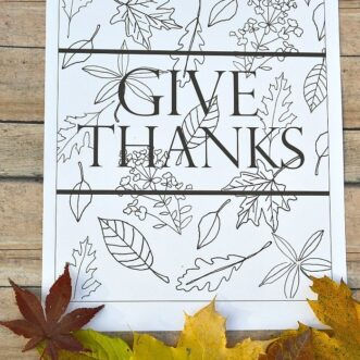 Give Thanks | Free Printable